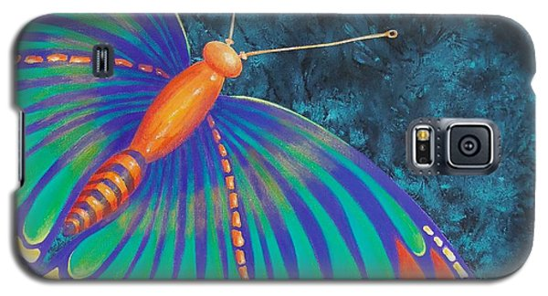 Galaxy S5 Case featuring the painting Fly With Me by Susan DeLain