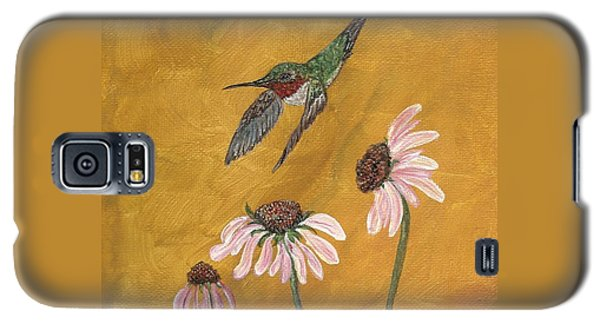 Galaxy S5 Case featuring the painting Flying By by Ella Kaye Dickey
