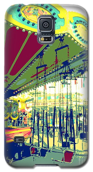 Galaxy S5 Case featuring the digital art Flying Chairs by Valerie Reeves