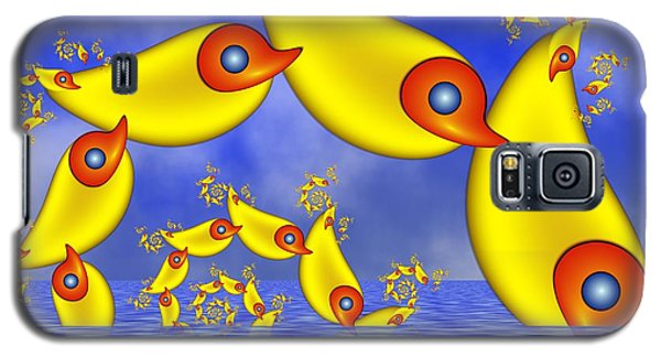 Galaxy S5 Case featuring the digital art Jumping Fantasy Animals by Gabiw Art
