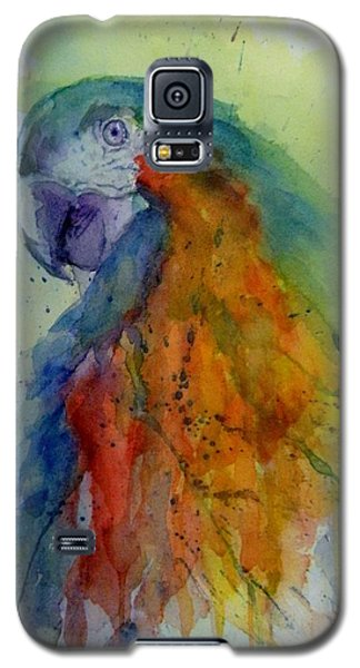 Galaxy S5 Case featuring the painting Flying Feathers by Lori Ippolito