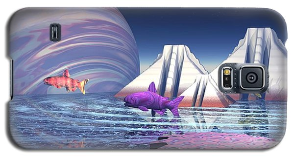 Galaxy S5 Case featuring the digital art Flying Fish by Jacqueline Lloyd