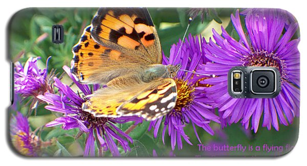 Galaxy S5 Case featuring the photograph Flying Flower by Sylvia Thornton