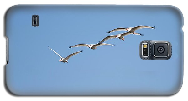 Galaxy S5 Case featuring the photograph Flying Formation by John M Bailey