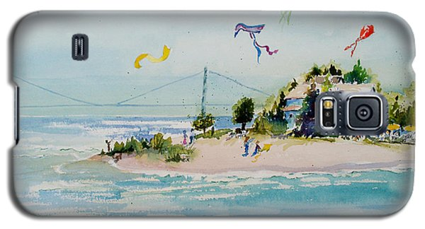 Galaxy S5 Case featuring the painting Flying High On Mackinac Island by Sandra Strohschein