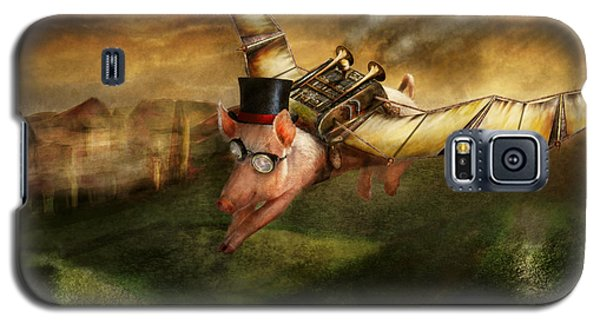 Flying Pig - Steampunk - The Flying Swine Galaxy S5 Case