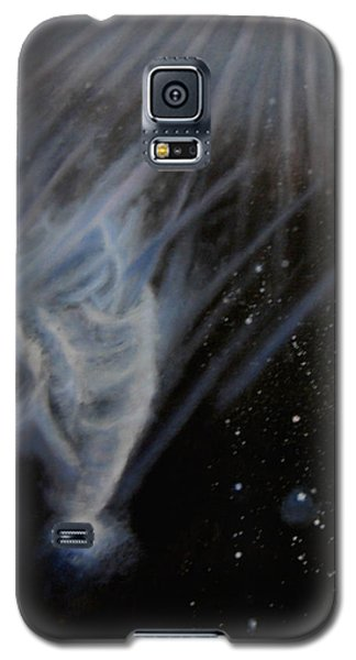 Galaxy S5 Case featuring the painting Flying To The Universe by Min Zou