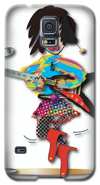 Galaxy S5 Case featuring the digital art Flying V Girl by Marvin Blaine