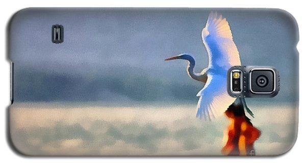 Flying White Egret Galaxy S5 Case
