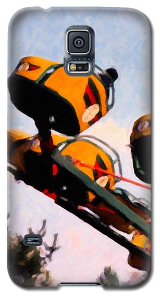 Galaxy S5 Case featuring the digital art Flying With The Carnival by Spyder Webb