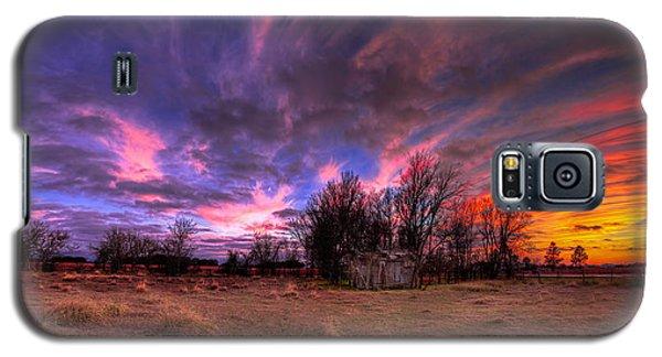 Fm Sunset Pano In Needville Texas Galaxy S5 Case