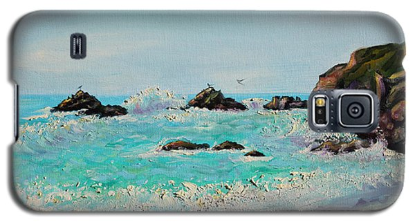 Foamy Ocean Waves And Sandy Shore Galaxy S5 Case