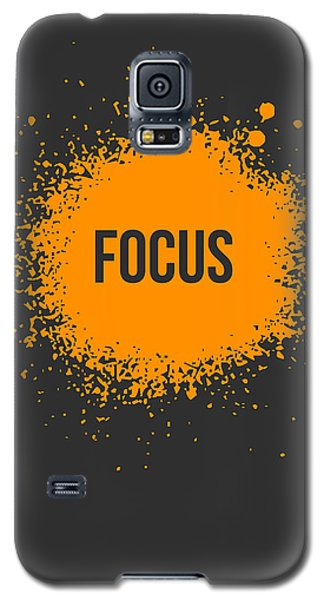 Orange Galaxy S5 Case - Focus Splatter Poster 3 by Naxart Studio