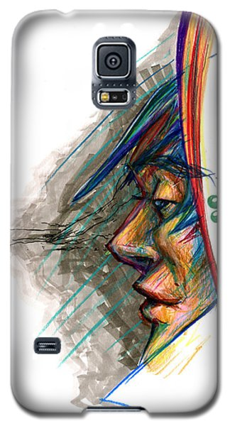 Galaxy S5 Case featuring the drawing Focusing The Attention by John Ashton Golden