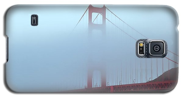 Galaxy S5 Case featuring the photograph Fog And The Golden Gate by Jonathan Nguyen
