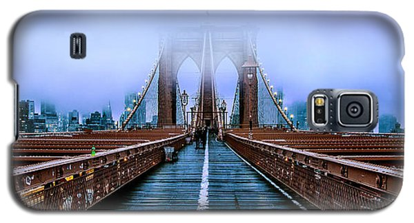 Featured Images Galaxy S5 Case - Fog Over The Brooklyn by Az Jackson