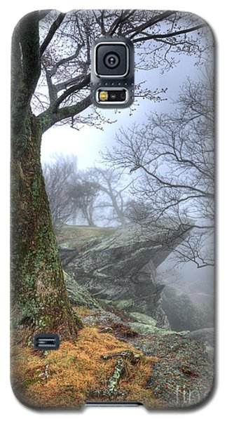 Fog Rocks And Lichen In The Blue Ridge Galaxy S5 Case