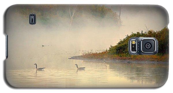 Foggy Autumn Swim Galaxy S5 Case by Elizabeth Winter