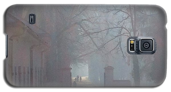 Galaxy S5 Case featuring the photograph Foggy Morn Cetinje Montenegro by Ann Johndro-Collins