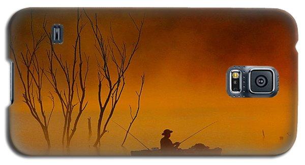 Foggy Morning Fisherman Galaxy S5 Case by Elizabeth Winter