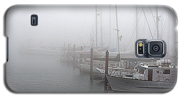 Galaxy S5 Case featuring the photograph Foggy Morning In Charleston Harbor by AJ  Schibig