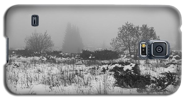 Galaxy S5 Case featuring the photograph Foggy Morning Mountain Snow by Jivko Nakev