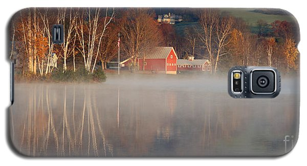 Foggy Morning On Lake Pineo Galaxy S5 Case by Butch Lombardi