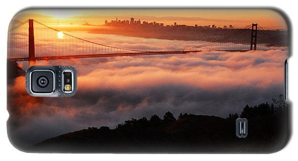 Galaxy S5 Case featuring the photograph Foggy Morning San Francisco by James Kirkikis