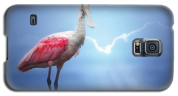 Foggy Morning Spoonbill Galaxy S5 Case by Mark Andrew Thomas