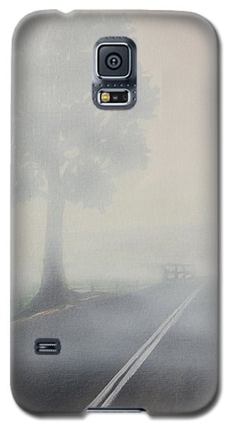 Galaxy S5 Case featuring the painting Foggy Road by Tim Mullaney