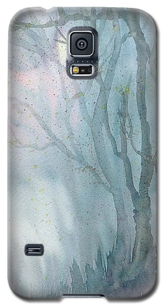 Galaxy S5 Case featuring the painting Foggy Trees by Rebecca Davis