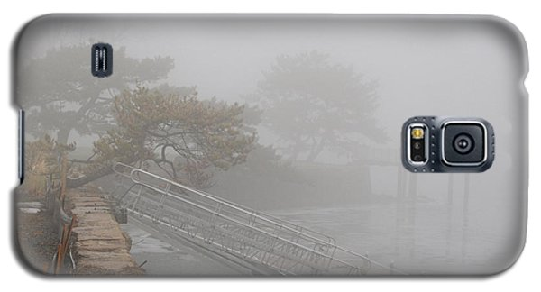 Foggy Winter Harbor Galaxy S5 Case by Margie Avellino