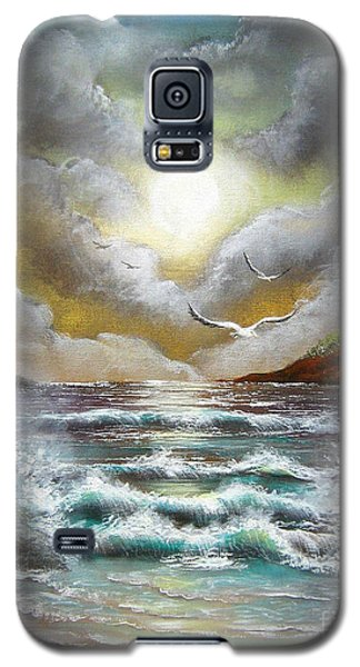 Galaxy S5 Case featuring the painting Follow The Wind by Patrice Torrillo