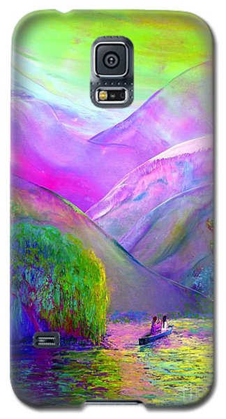 Galaxy S5 Case featuring the painting  Love Is Following The Flow Together by Jane Small