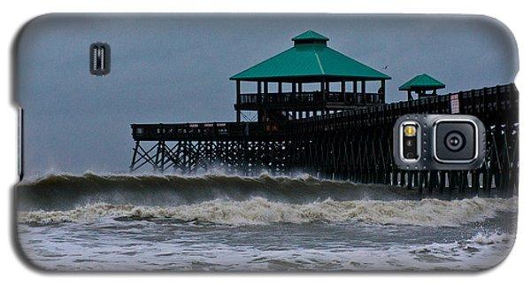 Folly Beach Pier During Sandy Galaxy S5 Case