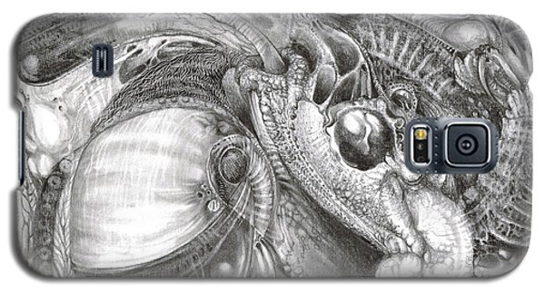 Galaxy S5 Case featuring the drawing Fomorii Aliens by Otto Rapp