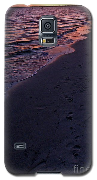 Galaxy S5 Case featuring the photograph Foot Prints Upon The Sands Of Time by Irma BACKELANT GALLERIES