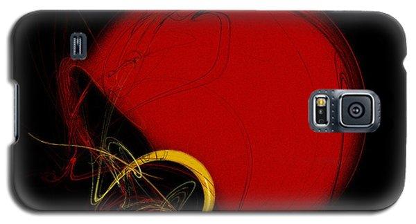 Football Helmet Red Fractal Art 2 Galaxy S5 Case
