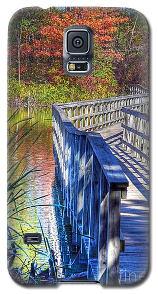 Galaxy S5 Case featuring the photograph Footbridge  by Rodney Campbell