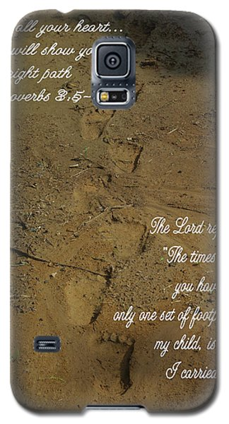 Footprints Proverbs Galaxy S5 Case by Robyn Stacey