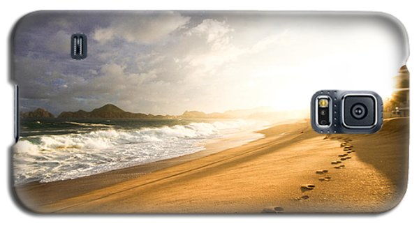 Galaxy S5 Case featuring the photograph Footsteps In The Sand by Eti Reid