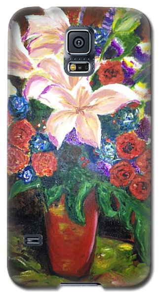 Galaxy S5 Case featuring the painting For My Friend Lily by Belinda Low
