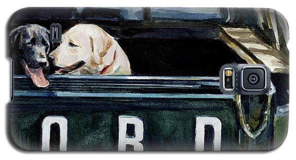 Truck Galaxy S5 Case - For Our Retriever Dogs by Molly Poole
