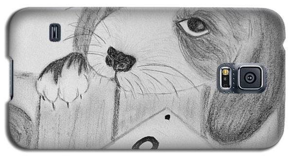 Galaxy S5 Case featuring the drawing For Sale by Celeste Manning