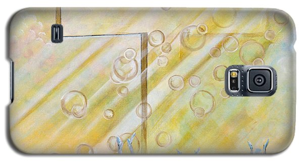 Galaxy S5 Case featuring the painting For The Cross by Cassie Sears