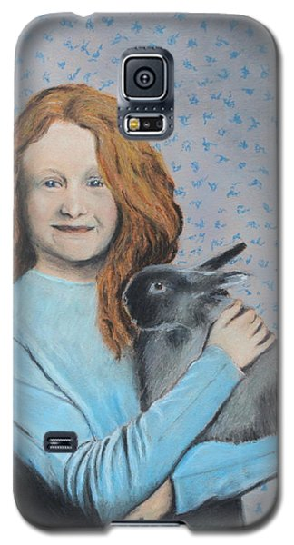 Galaxy S5 Case featuring the painting For The Love Of Bunny by Jeanne Fischer