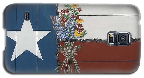 Galaxy S5 Case featuring the painting For The Love Of Texas by Suzanne Theis