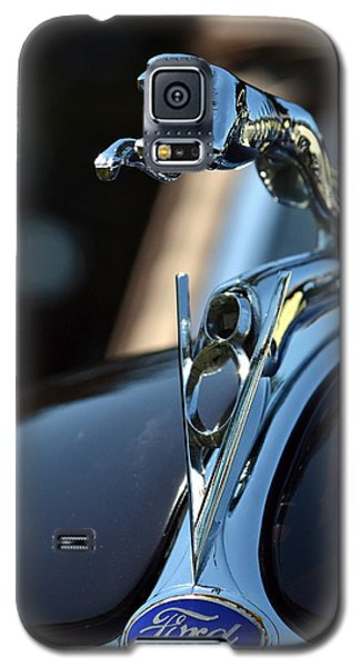 Galaxy S5 Case featuring the photograph Ford V-8 Hood Ornemant by Dean Ferreira