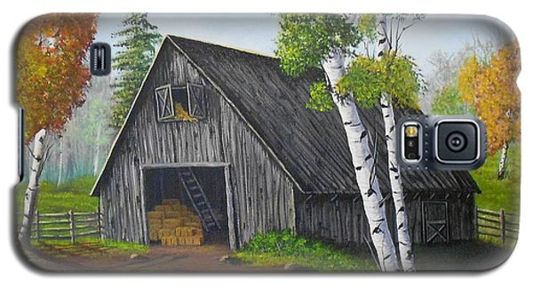 Galaxy S5 Case featuring the painting Forest Barn by Sheri Keith