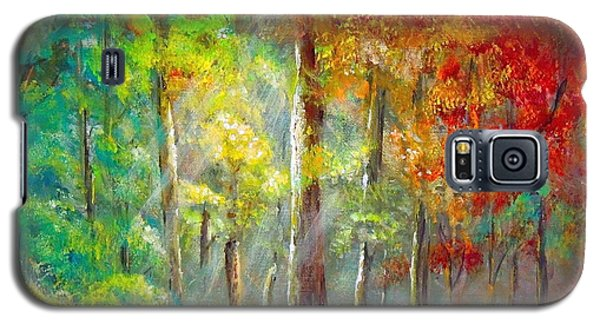 Galaxy S5 Case featuring the painting Forest by Bozena Zajaczkowska